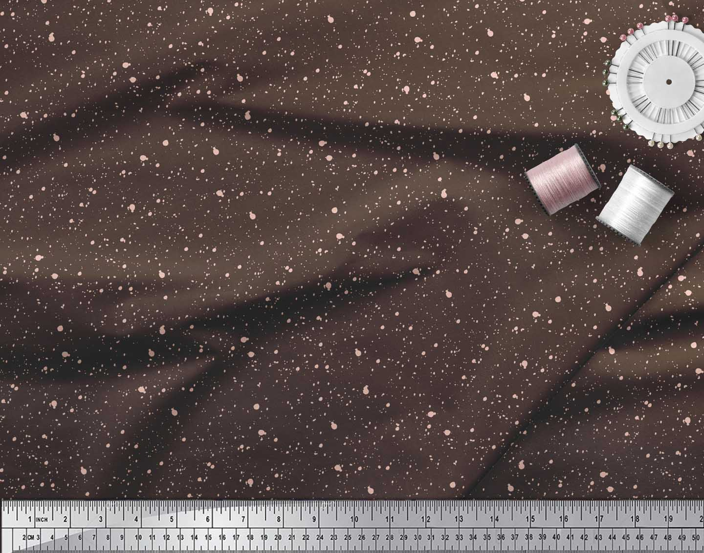 Soimoi-Brown-Cotton-Poplin-Fabric-Brush-Stroke-Abstract-Printed-ljW thumbnail 3