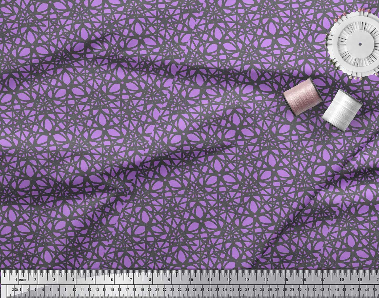 Soimoi-Purple-Cotton-Poplin-Fabric-Abstracts-Abstract-Print-Fabric-2OI thumbnail 3