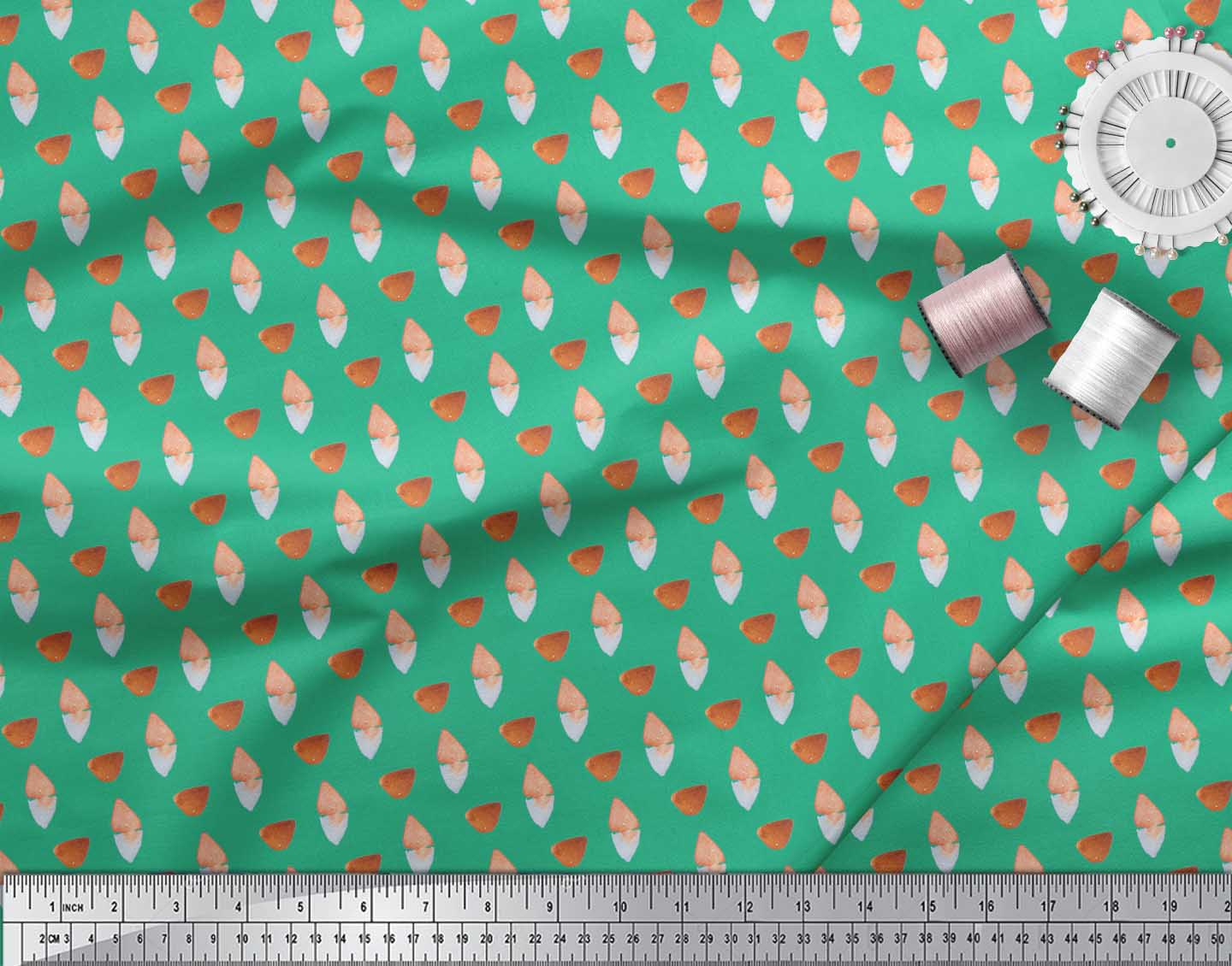 Soimoi-Green-Cotton-Poplin-Fabric-Tumble-Stone-Abstract-Print-Fabric-Xtr thumbnail 3