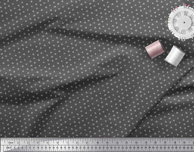 Soimoi-Gray-Cotton-Poplin-Fabric-Brush-Stroke-Abstract-Print-Fabric-VzC thumbnail 4