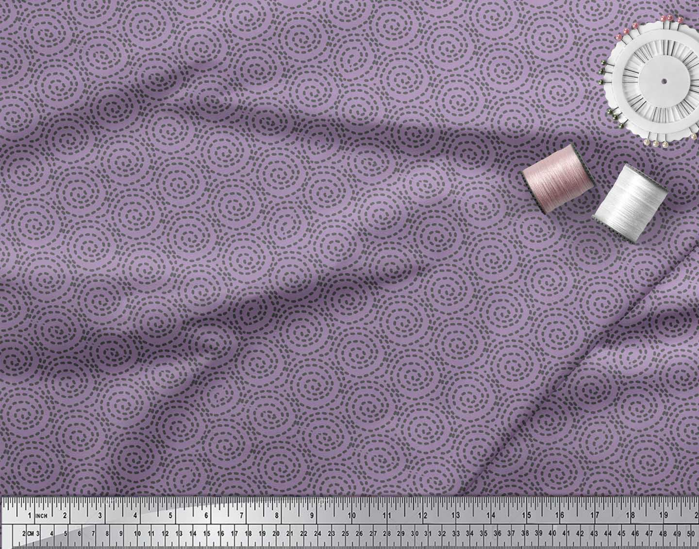 Soimoi-Purple-Cotton-Poplin-Fabric-Abstracts-Abstract-Printed-Fabric-Weg thumbnail 3