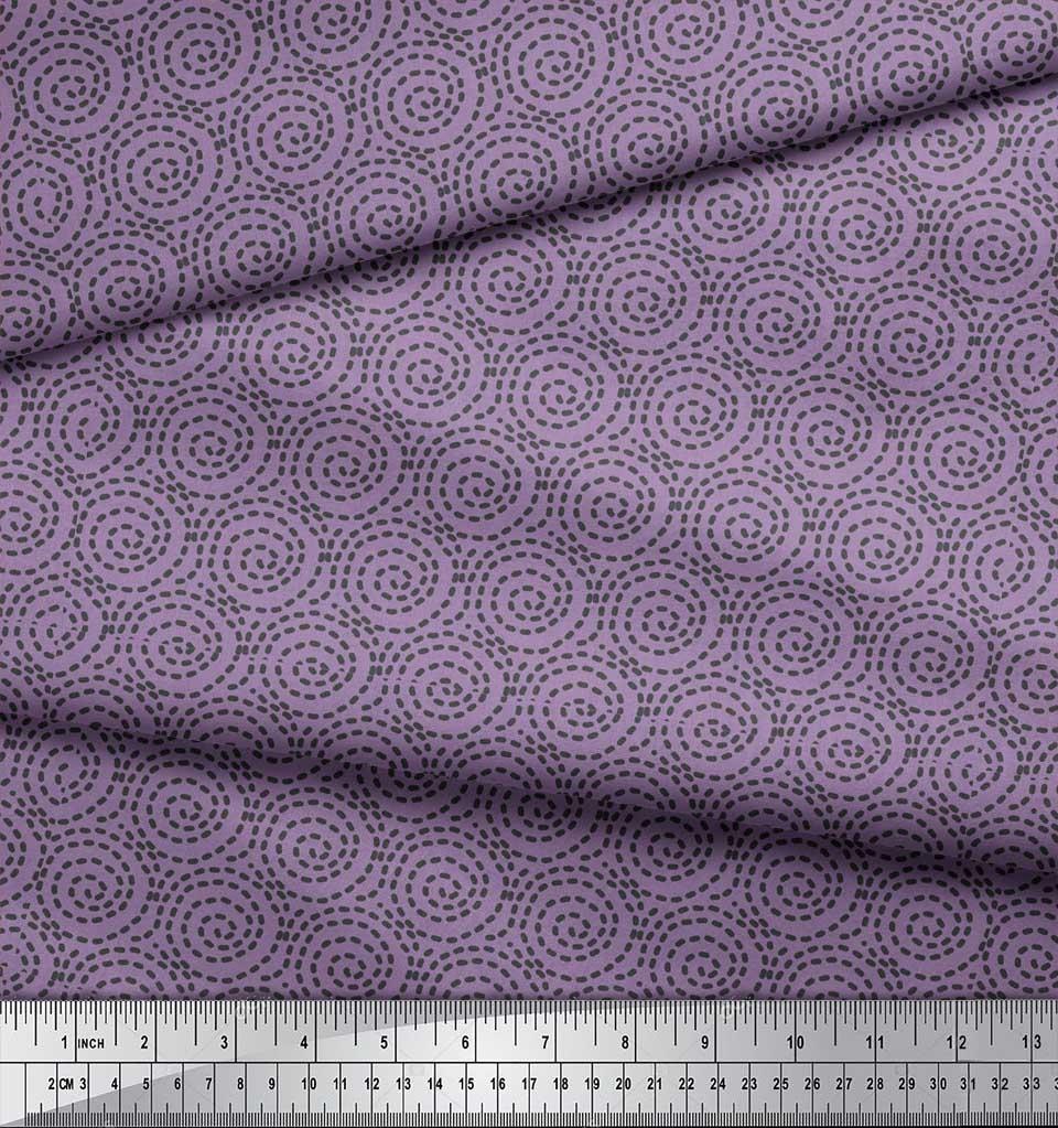 Soimoi-Purple-Cotton-Poplin-Fabric-Abstracts-Abstract-Printed-Fabric-Weg thumbnail 4