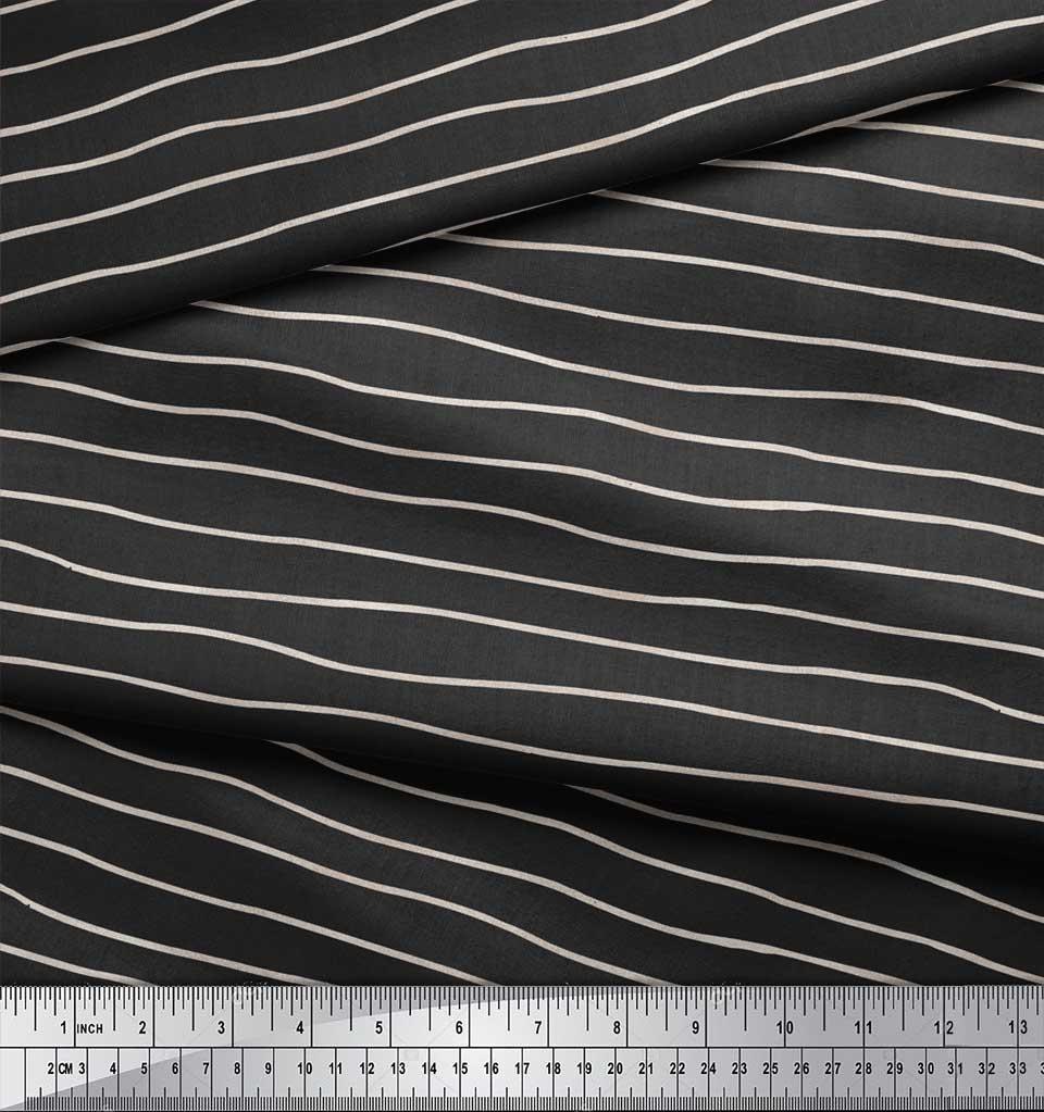 Soimoi-Gray-Cotton-Poplin-Fabric-Artistic-Waves-Abstract-Decor-Fabric-ZdO thumbnail 3