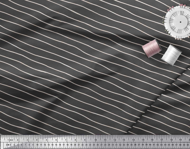 Soimoi-Gray-Cotton-Poplin-Fabric-Artistic-Waves-Abstract-Decor-Fabric-ZdO thumbnail 4