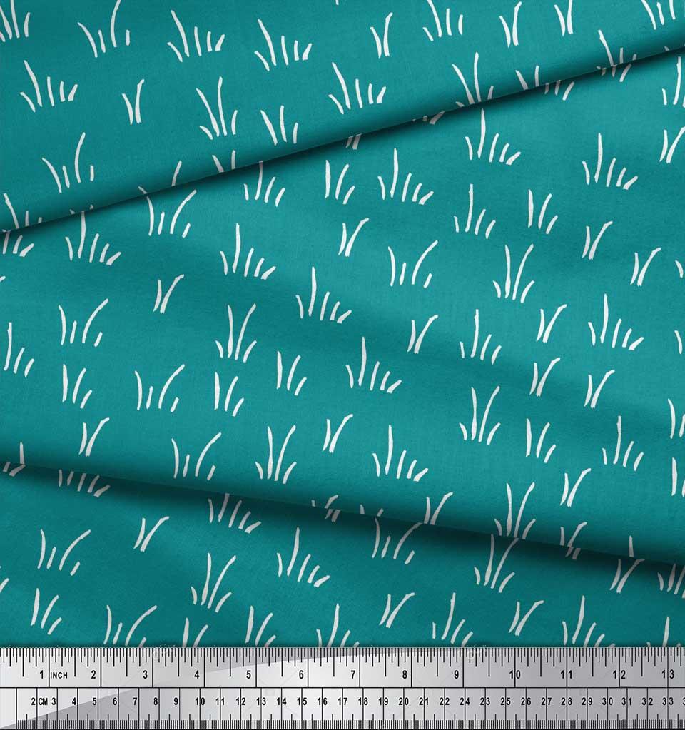 Soimoi-Green-Cotton-Poplin-Fabric-Brush-Stroke-Abstract-Printed-ITD thumbnail 4