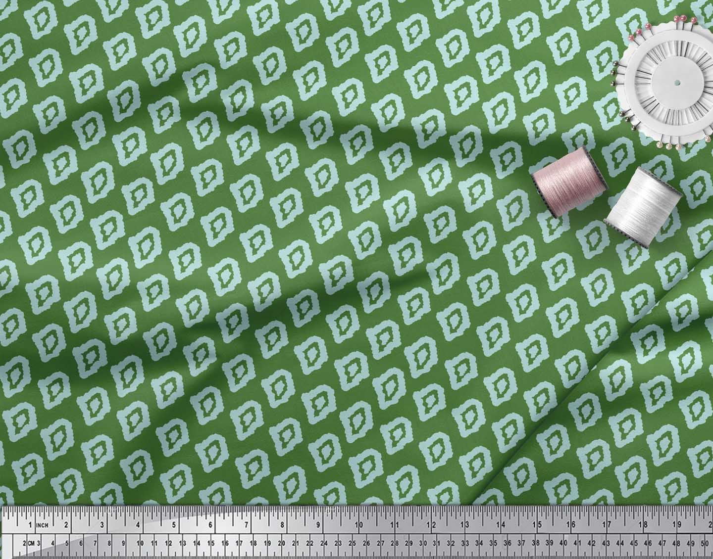 Soimoi-Green-Cotton-Poplin-Fabric-Abstracts-Abstract-Fabric-Prints-uvO thumbnail 3