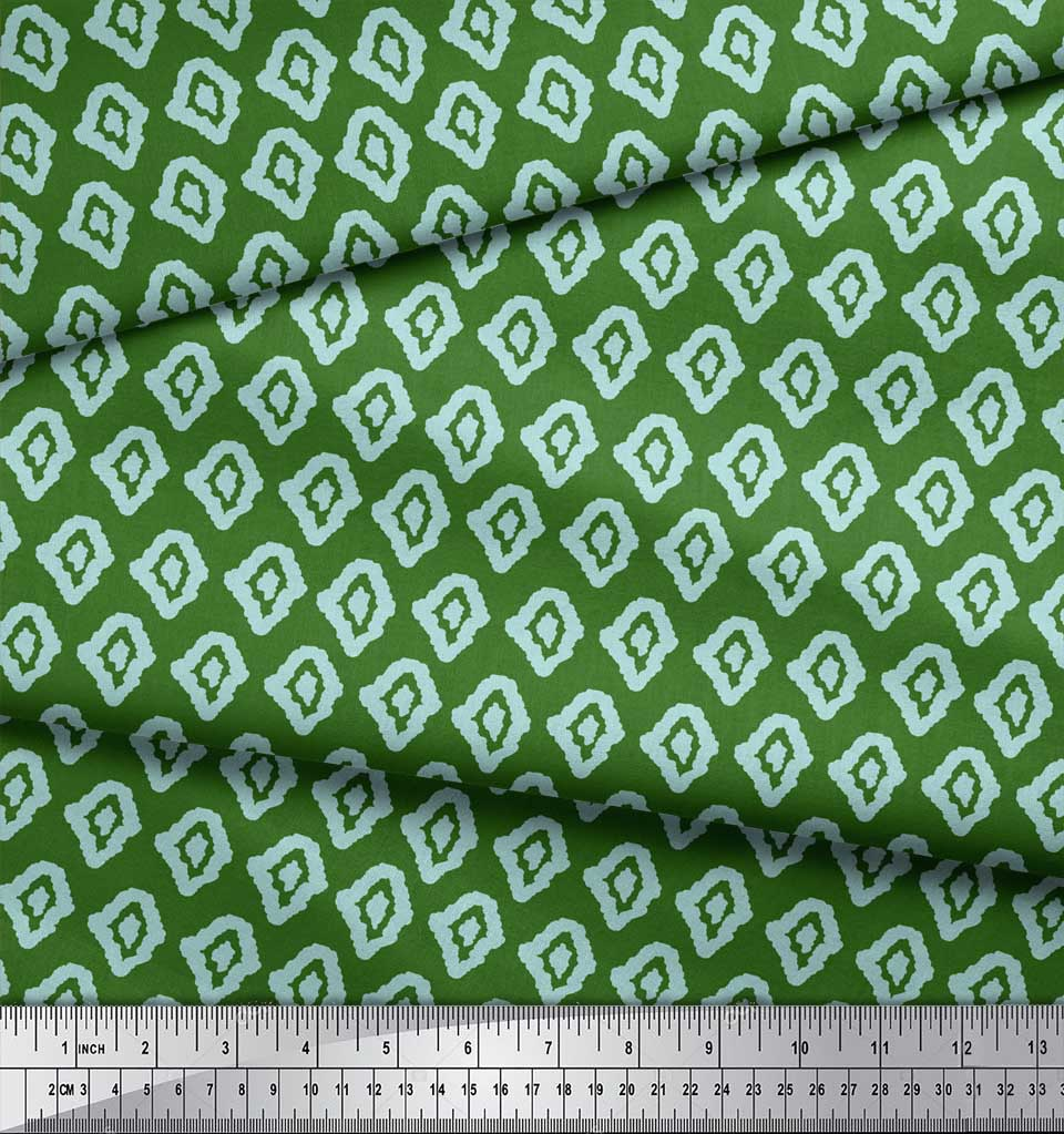 Soimoi-Green-Cotton-Poplin-Fabric-Abstracts-Abstract-Fabric-Prints-uvO thumbnail 4