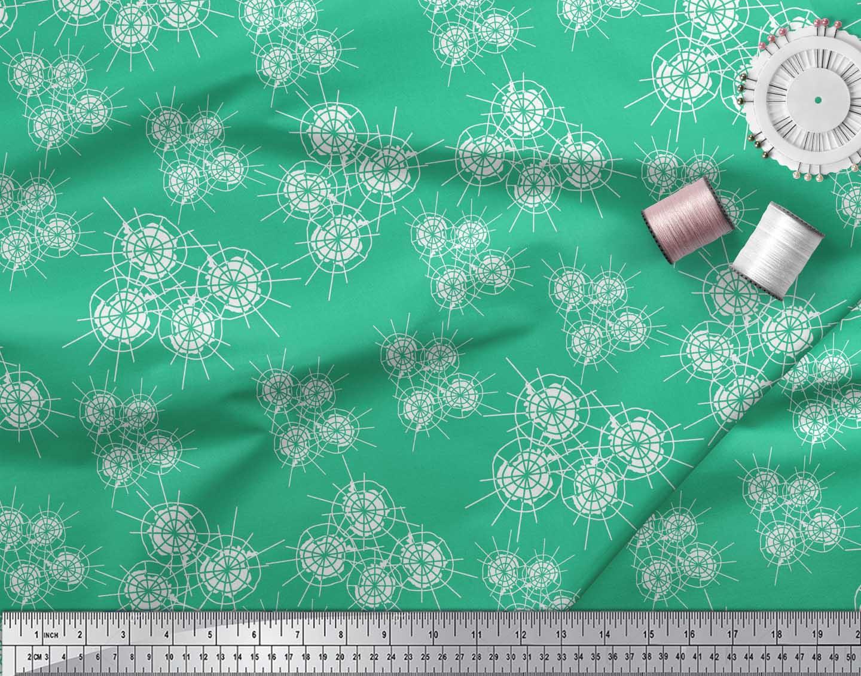 Soimoi-Green-Cotton-Poplin-Fabric-Abstracts-Abstract-Print-Fabric-Wie thumbnail 3