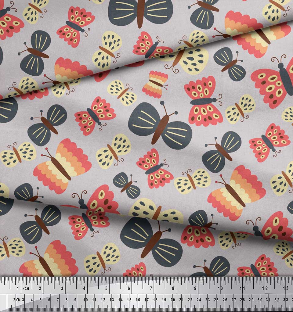 Soimoi-Gray-Cotton-Poplin-Fabric-Insect-Insect-Printed-Fabric-1-6GT thumbnail 3
