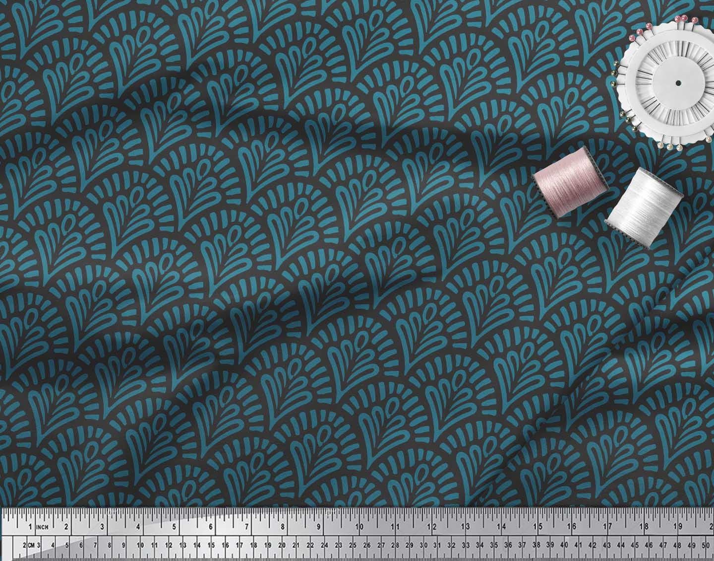 Soimoi-Black-Cotton-Poplin-Fabric-Floral-Damask-Print-Sewing-Fabric-VrD thumbnail 3