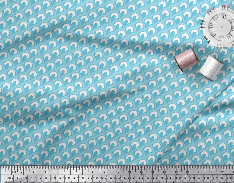 Soimoi-Blue-Cotton-Poplin-Fabric-Moroccan-Damask-Decor-Fabric-Printed-Ntq thumbnail 4