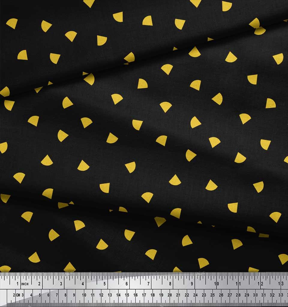 Soimoi-Black-Cotton-Poplin-Fabric-Nachos-amp-Salsa-Food-Decor-Fabric-fbA thumbnail 3