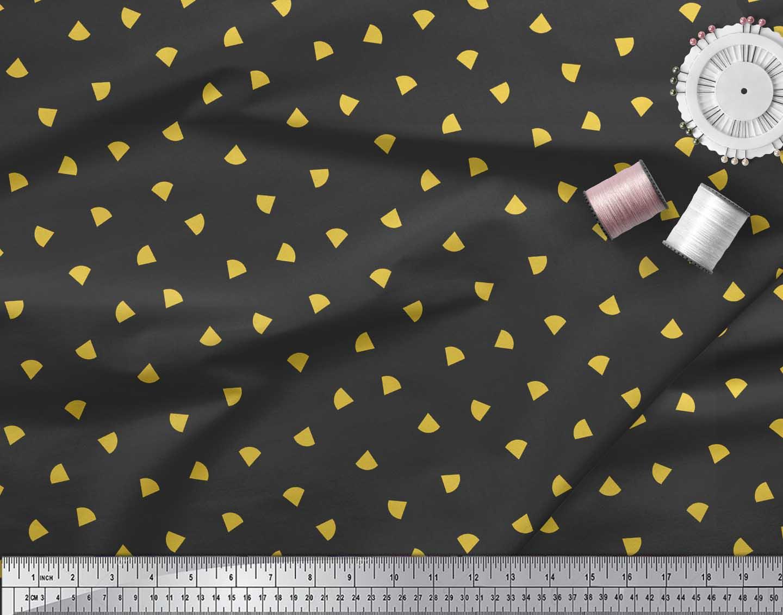 Soimoi-Black-Cotton-Poplin-Fabric-Nachos-amp-Salsa-Food-Decor-Fabric-fbA thumbnail 4