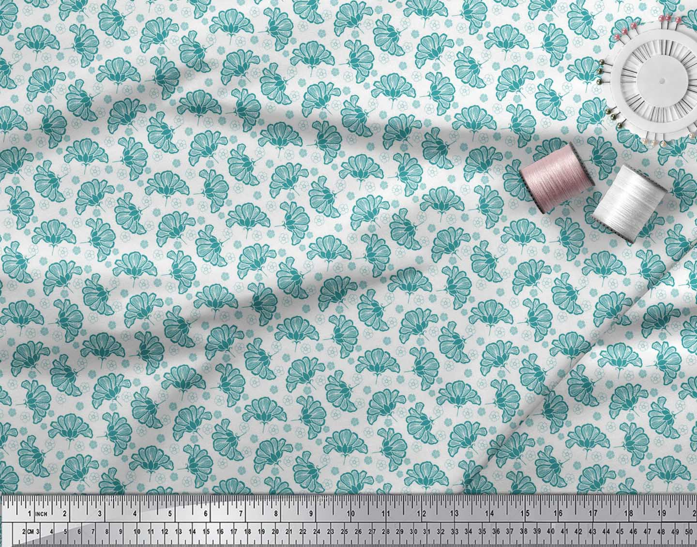 Soimoi-Green-Cotton-Poplin-Fabric-Artistic-Floral-Print-Fabric-by-fOh thumbnail 3