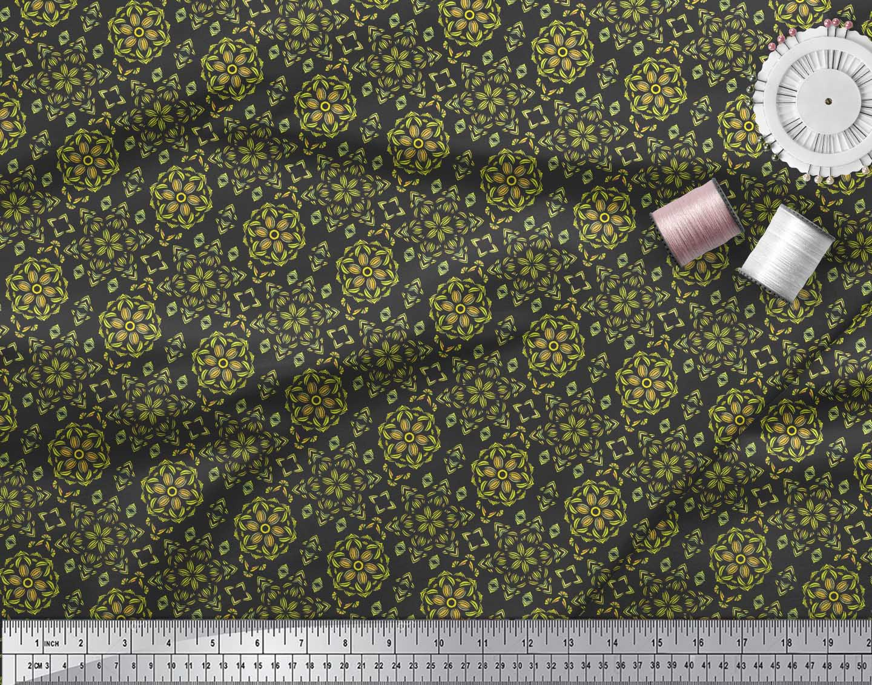 Soimoi-Black-Cotton-Poplin-Fabric-Artistic-Floral-Decor-Fabric-Printed-ndg thumbnail 4