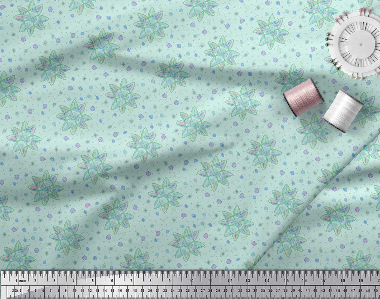 Soimoi-Green-Cotton-Poplin-Fabric-Artistic-Floral-Fabric-Prints-3ag thumbnail 4