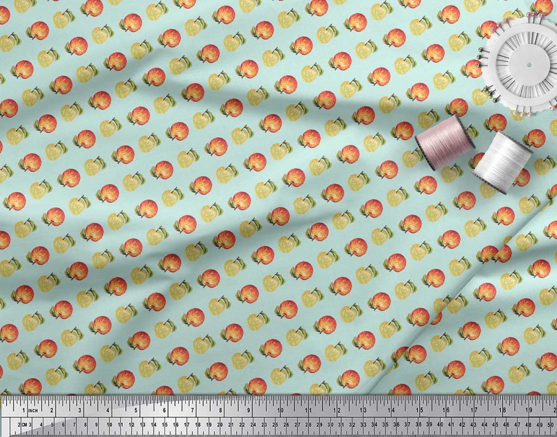 Soimoi-Green-Cotton-Poplin-Fabric-Fruits-Print-Fabric-by-metre-42-S1Q thumbnail 3