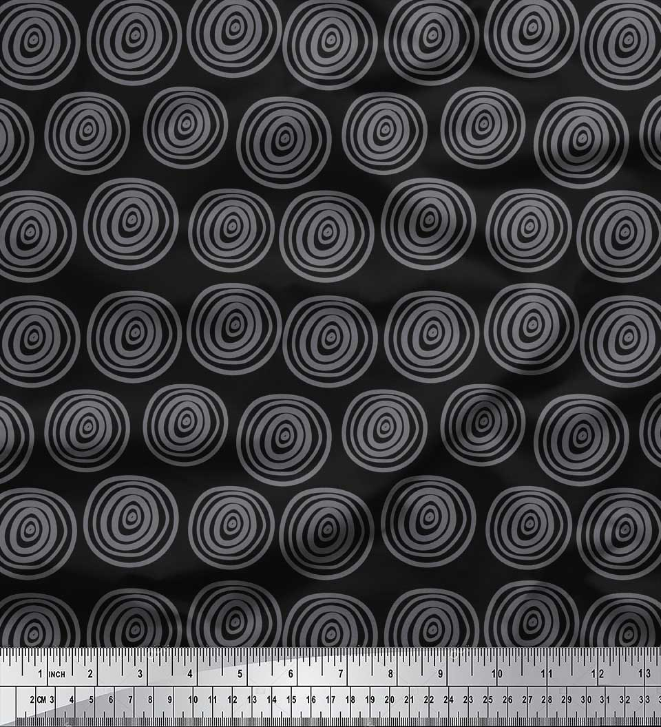 Printed Poly Cotton Water Repellent Upholstery Fabric Black Red Grey New Striped Sold By The 10 Metre