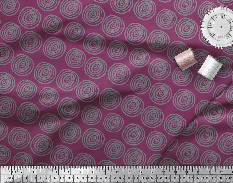 Soimoi-Pink-Cotton-Poplin-Fabric-Spiral-amp-Stripe-Geometric-Printed-CdP thumbnail 3