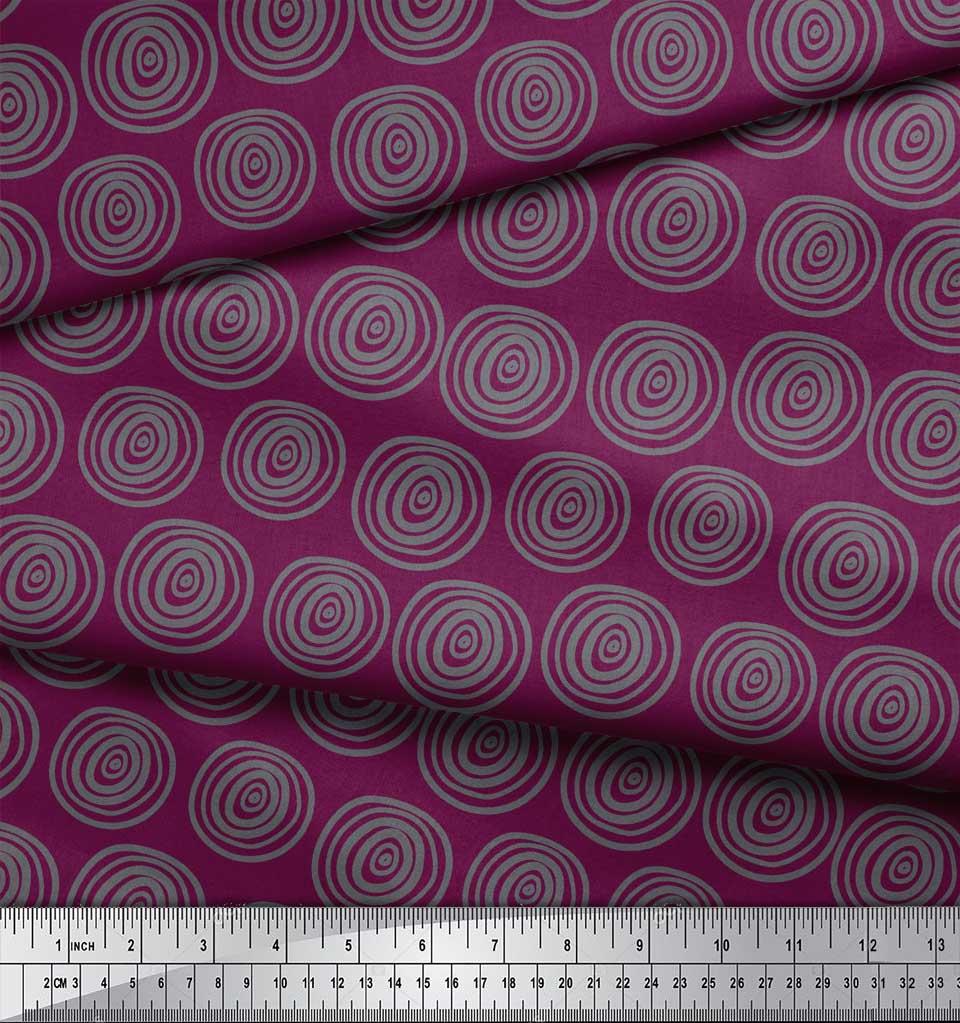 Soimoi-Pink-Cotton-Poplin-Fabric-Spiral-amp-Stripe-Geometric-Printed-CdP thumbnail 4
