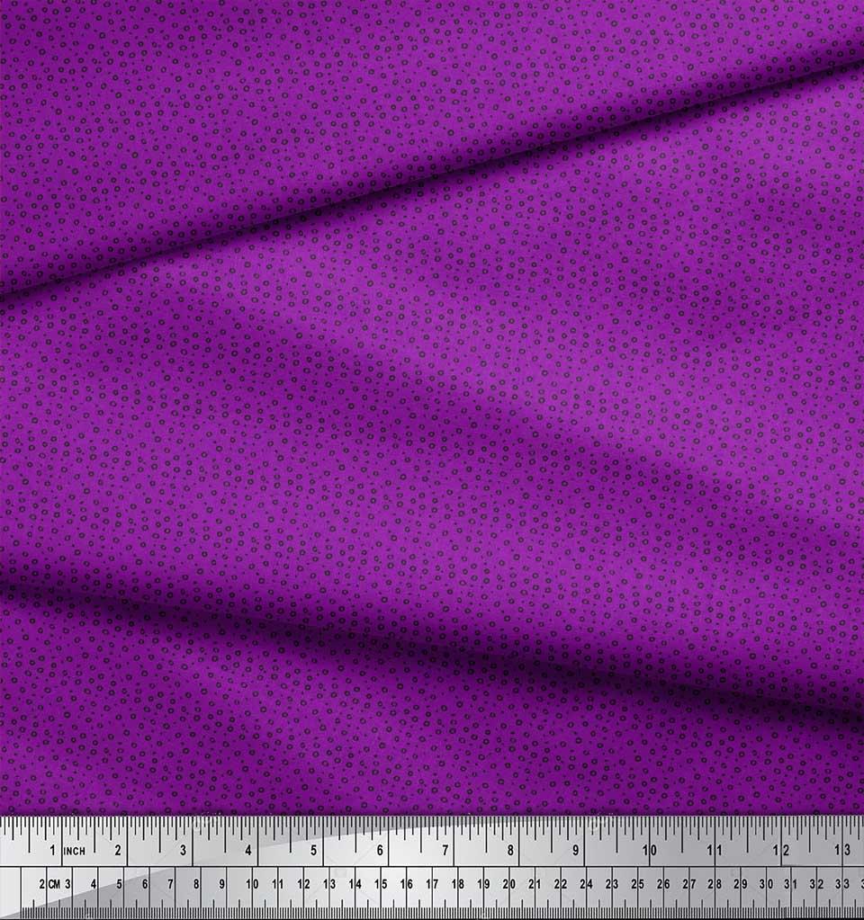 Soimoi-Purple-Cotton-Poplin-Fabric-Line-amp-Circle-Geometric-Print-U6m thumbnail 4