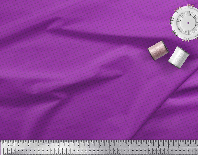 Soimoi-Purple-Cotton-Poplin-Fabric-Spiral-amp-Stripe-Geometric-Printed-xJg thumbnail 3