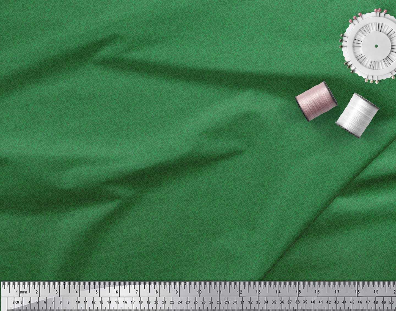 Soimoi-Green-Cotton-Poplin-Fabric-Line-amp-Circle-Geometric-Fabric-Ups thumbnail 4