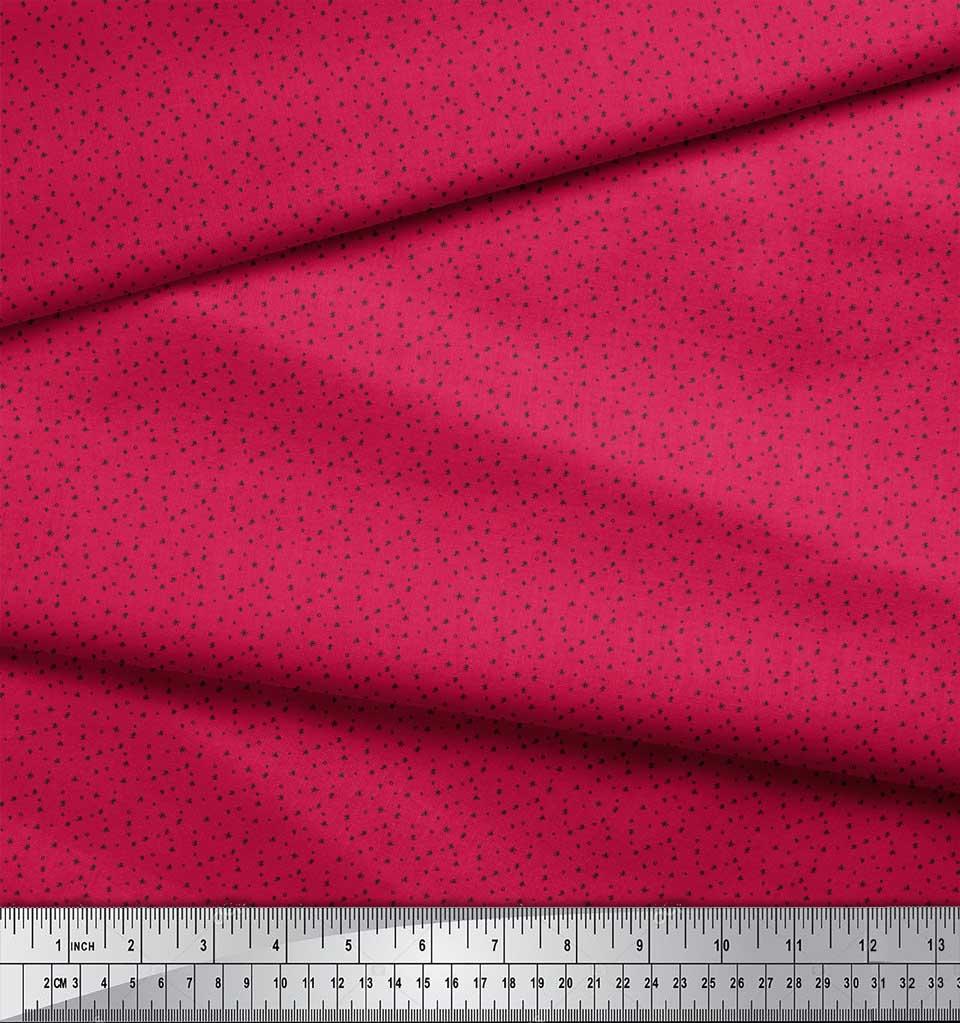 Soimoi-Pink-Cotton-Poplin-Fabric-Circle-amp-Cross-Geometric-Print-1jc thumbnail 4