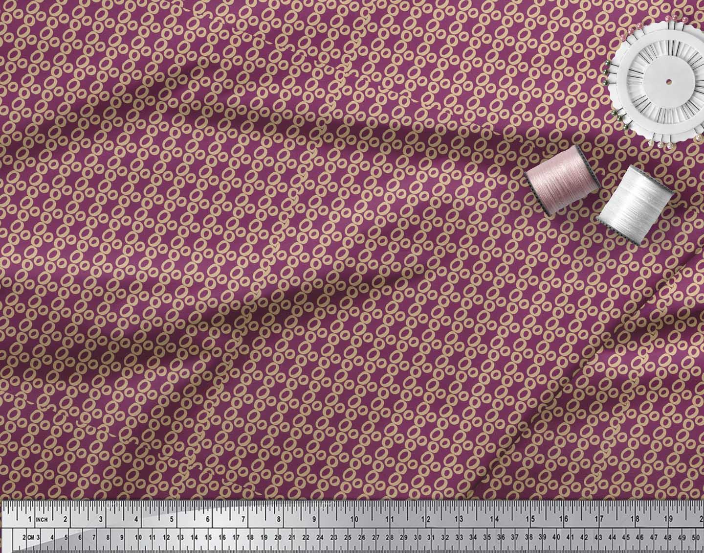 Soimoi-Pink-Cotton-Poplin-Fabric-Small-Circle-Geometric-Print-Fabric-OMc thumbnail 3