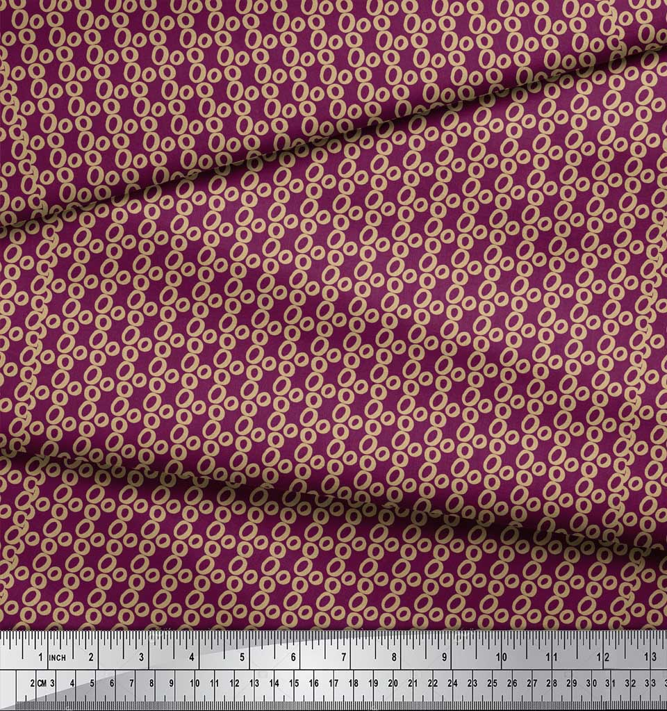 Soimoi-Pink-Cotton-Poplin-Fabric-Small-Circle-Geometric-Print-Fabric-OMc thumbnail 4