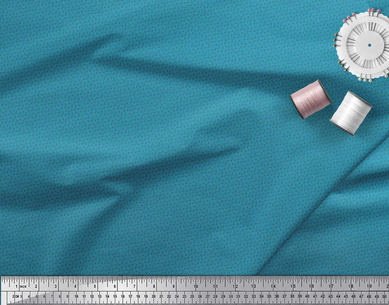 Soimoi-Blue-Cotton-Poplin-Fabric-Cross-amp-Geometric-Fabric-Prints-jiT thumbnail 4