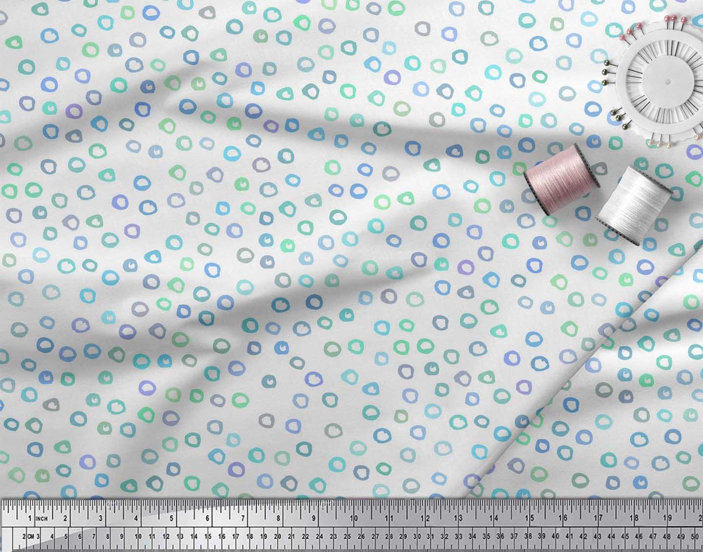 Soimoi-White-Cotton-Poplin-Fabric-Circle-Geometric-Printed-Fabric-XW9 thumbnail 3