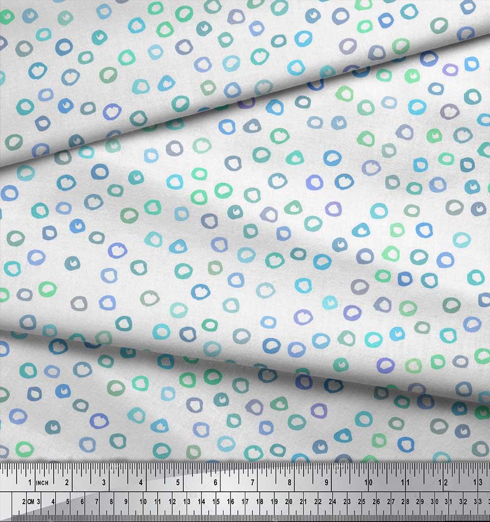 Soimoi-White-Cotton-Poplin-Fabric-Circle-Geometric-Printed-Fabric-XW9 thumbnail 4