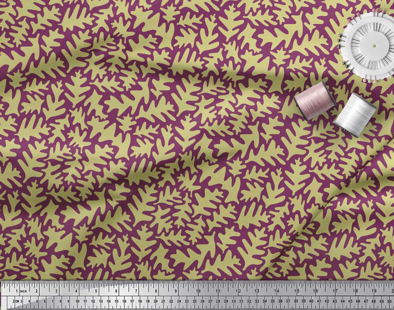 Soimoi-Pink-Cotton-Poplin-Fabric-Leaves-Leaves-Print-Fabric-by-the-lAM thumbnail 4
