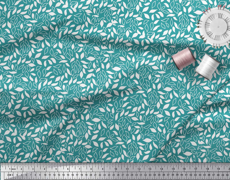 Soimoi-Green-Cotton-Poplin-Fabric-Leaves-Leaves-Print-Sewing-Fabric-1Rd thumbnail 4