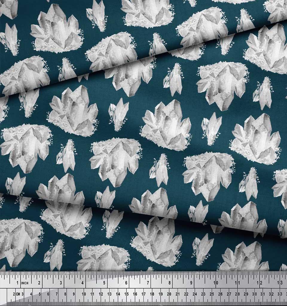 Soimoi-Blue-Cotton-Poplin-Fabric-Iceberg-Ocean-Print-Fabric-by-the-inM thumbnail 3
