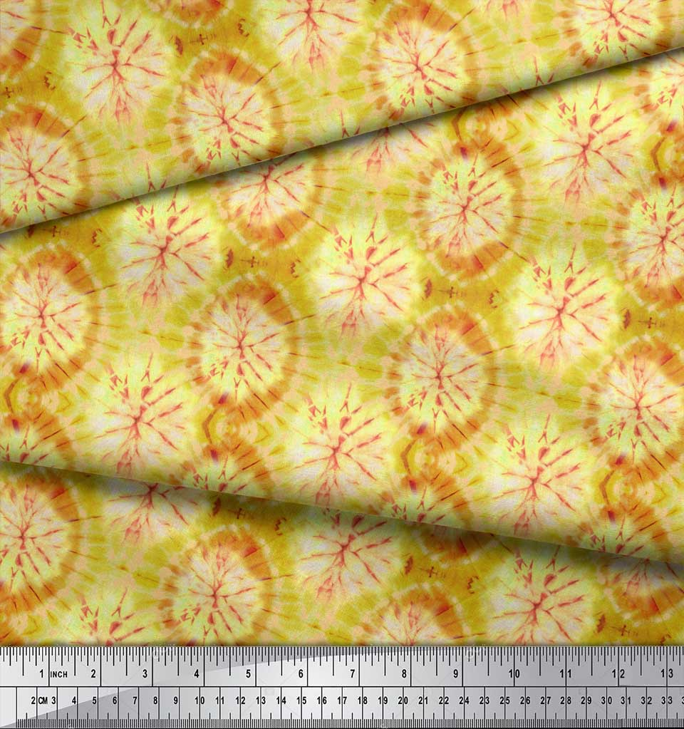 Soimoi-Green-Cotton-Poplin-Fabric-Ombre-Tie-Dye-Printed-Craft-Fabric-uOp thumbnail 3