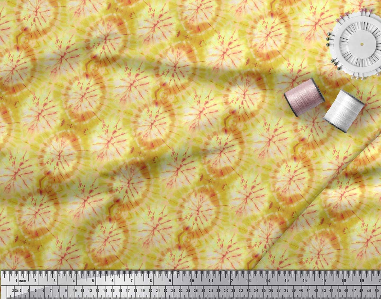 Soimoi-Green-Cotton-Poplin-Fabric-Ombre-Tie-Dye-Printed-Craft-Fabric-uOp thumbnail 4