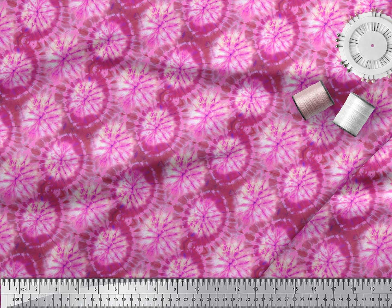 Soimoi-Pink-Cotton-Poplin-Fabric-Ombre-Tie-Dye-Print-Fabric-by-the-kdM thumbnail 3