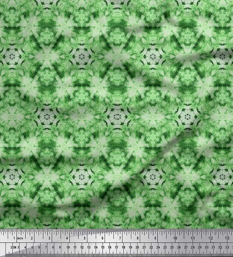 Soimoi-Green-Cotton-Poplin-Fabric-Mosaic-Tie-Dye-Fabric-Prints-By-aAD thumbnail 2