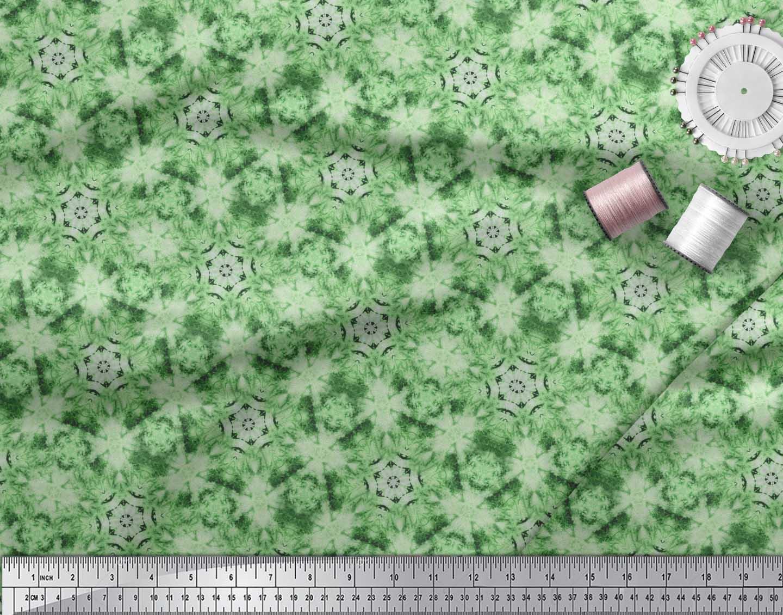 Soimoi-Green-Cotton-Poplin-Fabric-Mosaic-Tie-Dye-Fabric-Prints-By-aAD thumbnail 3