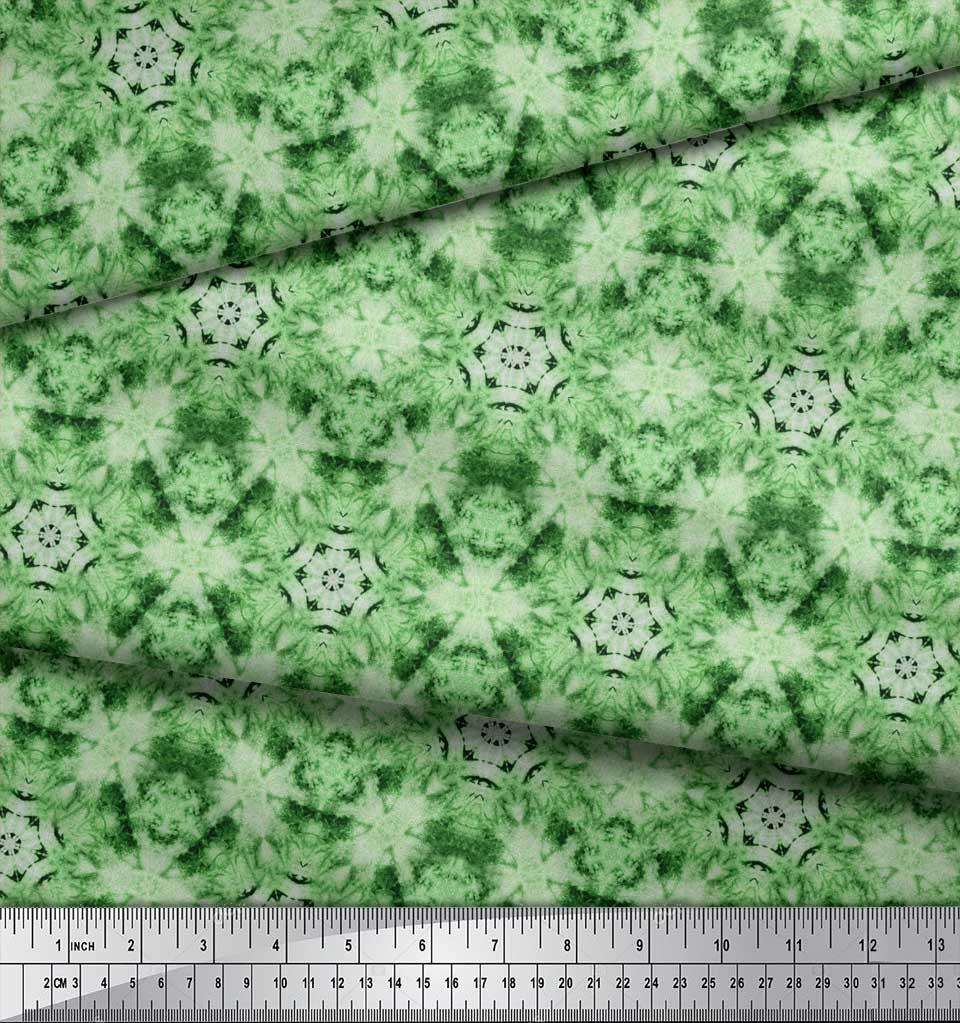 Soimoi-Green-Cotton-Poplin-Fabric-Mosaic-Tie-Dye-Fabric-Prints-By-aAD thumbnail 4