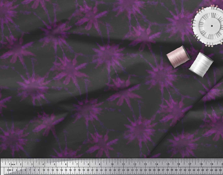 Soimoi-Pink-Cotton-Poplin-Fabric-Sparkle-Tie-Dye-Decor-Fabric-Printed-Jkp thumbnail 3