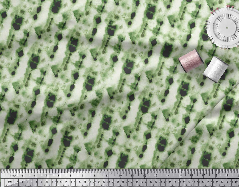 Soimoi-Green-Cotton-Poplin-Fabric-Ombre-Tie-Dye-Print-Sewing-Fabric-SaR thumbnail 4