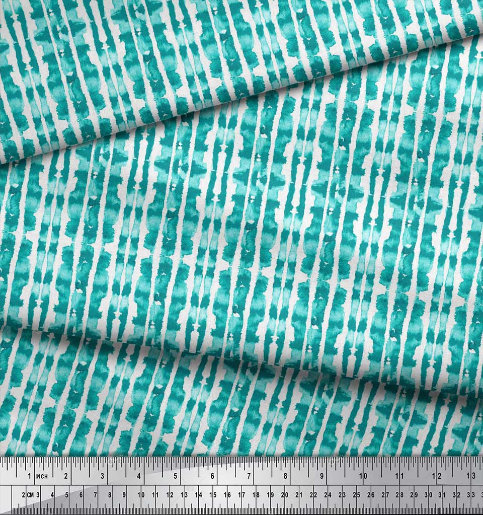 Soimoi-Green-Cotton-Poplin-Fabric-Ombre-Tie-Dye-Fabric-Prints-By-gMZ thumbnail 4