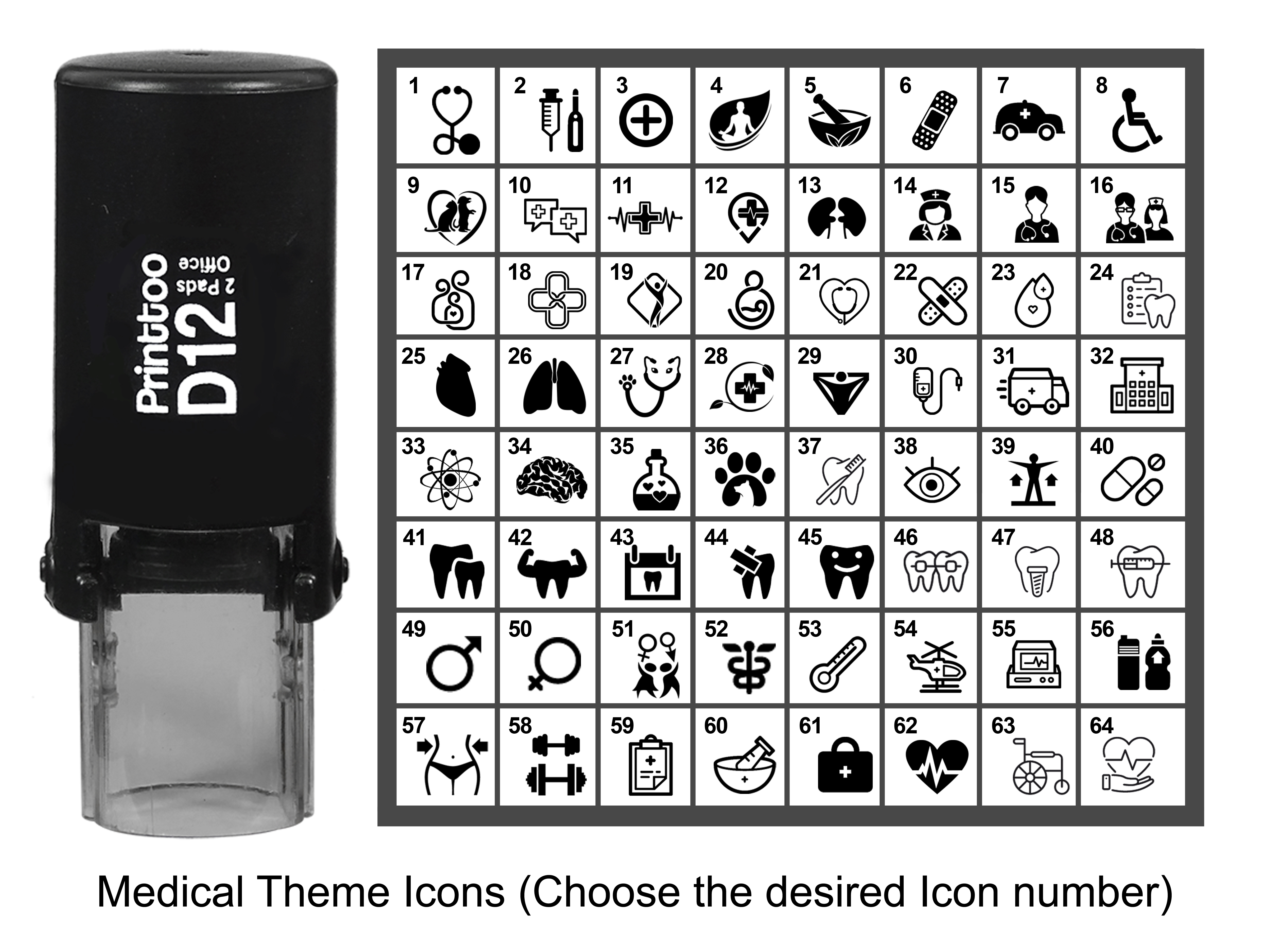Details about  /Printtoo PersonalizedSewing Theme IconsRound Rubber Stamp Self-94s