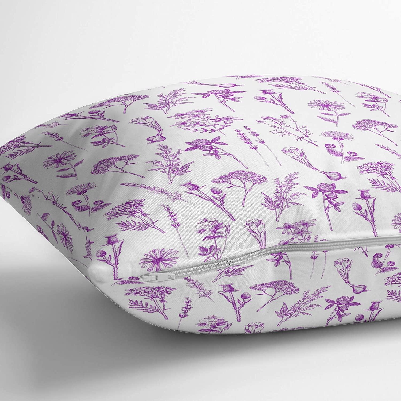 S4Sassy Leaves,Lilac /& Peony Sofa Cushion Case Square Pillow Cover 2Pcs-FL-44A